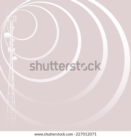 Mobile tower gray background - stock vector