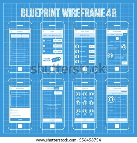 Mobile wireframe app ui kit 48 stock vector 556458754 shutterstock mobile wireframe app ui kit 48 malvernweather Gallery