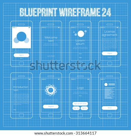 Mobile wireframe app ui kit 24 stock vector 313664117 shutterstock mobile wireframe app ui kit 24 sign in screen welcome screen tutorial screen malvernweather Image collections