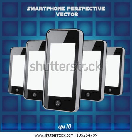 mobilephone Perspective Realistic vector - stock vector