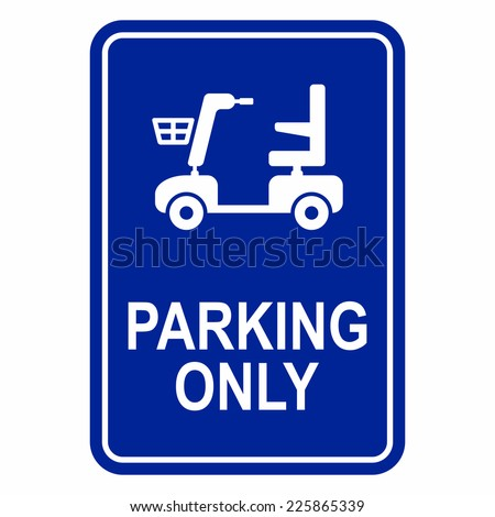 Mobility scooter parking sign - stock vector