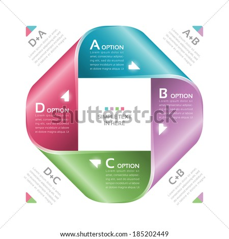 Mobius strip of paper. Vector option infographic. EPS 10. RGB. All effects are created with simple gradients and transparency, no mesh.  File is layered with global colors. - stock vector