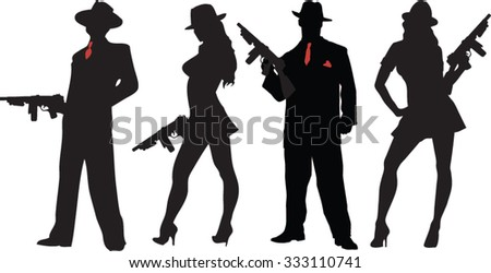 mobster - stock vector