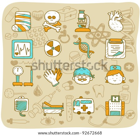 Mocha Series | health care & medical icons - stock vector