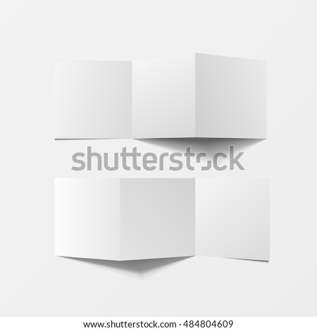 Mock 3d Leaflet Blank Top View Stock Vector 666889867 - Shutterstock