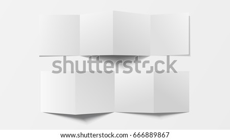 Mock 3d Leaflet Blank Top View Vector 666889867 Shutterstock – Pamphlet Layout Template