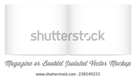 Mock Up for album or booklet or magazine in Vector - stock vector