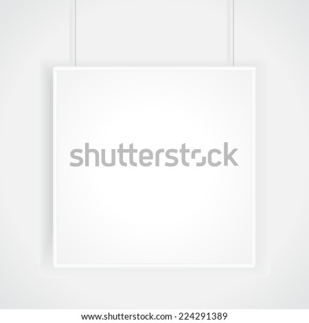 Mock-up for poster - stock vector