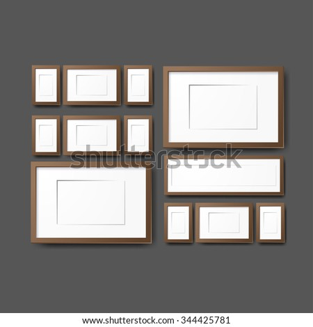 Mockup modern tripod template. Layout template. Realistic vector mockup illustration.   Office table, work station.  - stock vector