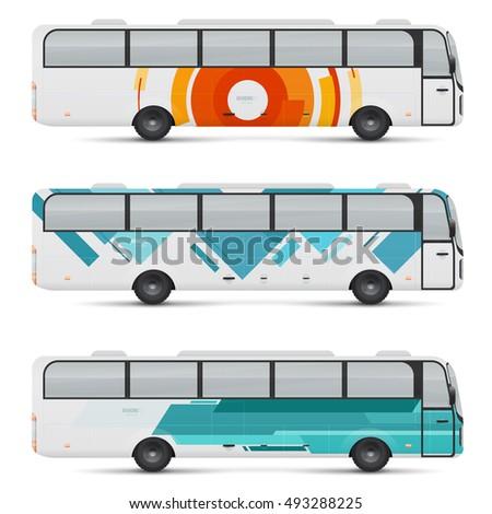 cool modern flat design public transport stock vector