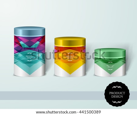 Mockup template for branding and product designs. Isolated realistic bottles with poster and unique sample design. Easy to use for advertising branding and marketing. - stock vector