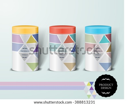 Mockup template for branding and product designs. Isolated realistic can with unique design. Easy to use for advertising branding and marketing. - stock vector