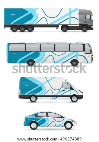 Vehicle Graphics Stock Images RoyaltyFree Images Vectors - Modern vehicle decals for business