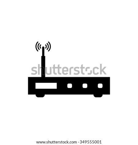 modem icon - stock vector