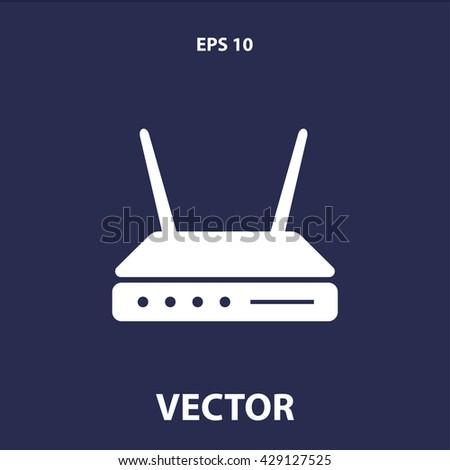 modem icon. modem vector illustration  - stock vector