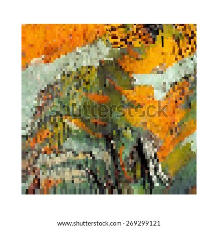 Modern abstract art bright blots and splashes and spots on white background - stock vector