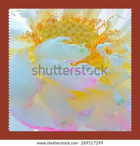 Modern abstract art bright blots and splashes in red frame - stock vector