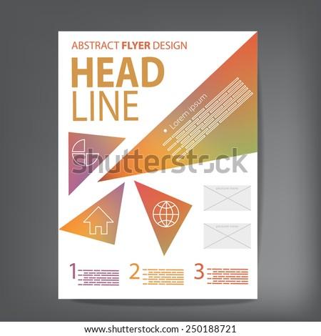 Modern abstract brochure , Vector flyer design template - stock vector