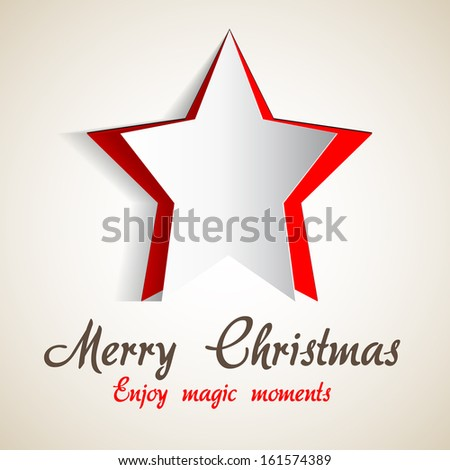 Modern abstract christmas paper star background - eps10 vector illustration - stock vector