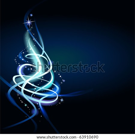 Modern abstract christmas tree - stock vector