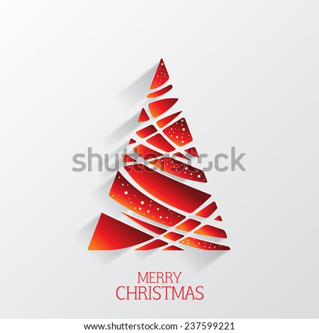 Modern abstract christmas tree background, illustration