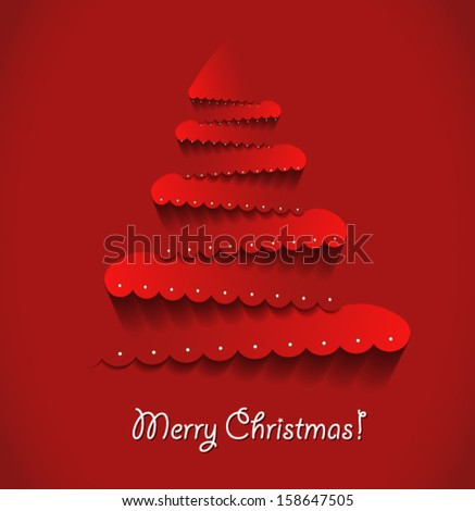 Modern abstract christmas tree . Vector eps10.