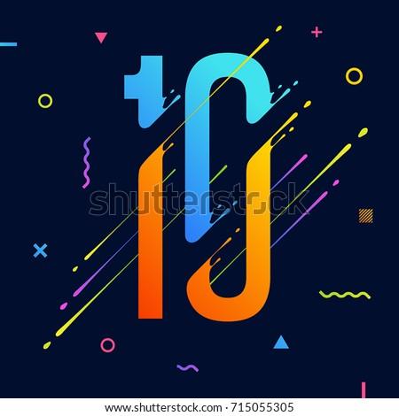 Modern Abstract Colorful Alphabet Minimal Design Stock ...