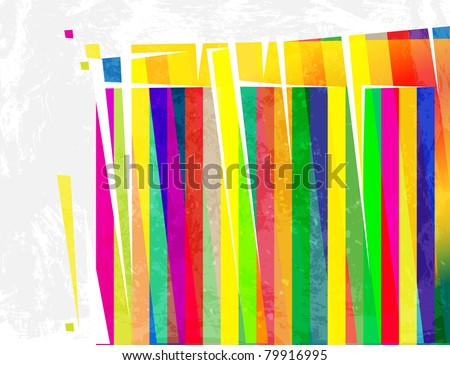 modern abstract colorful spectrum design - stock vector