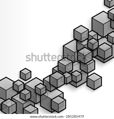 Modern Abstract Cubes Background