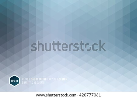 Modern Abstract geometric background with blue grey triangles for business, technology and science design layout template and web banners. Digital pixel mosaic for internet. Vector texture. - stock vector