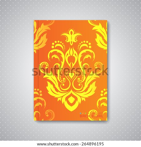 Modern abstract template layout for brochure, magazine, flyer, booklet, cover or report in A4 size for your design and your text . Vector Illustration. - stock vector