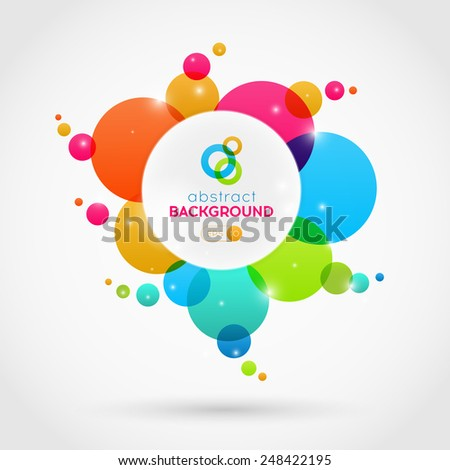 Modern abstract vector colorful circles background