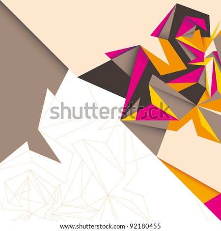 Modern abstraction. Vector illustration. - stock vector