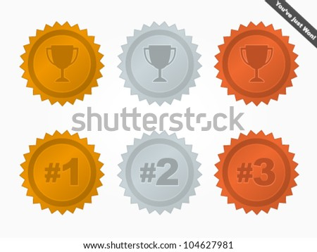 Modern Achievement Badges - stock vector