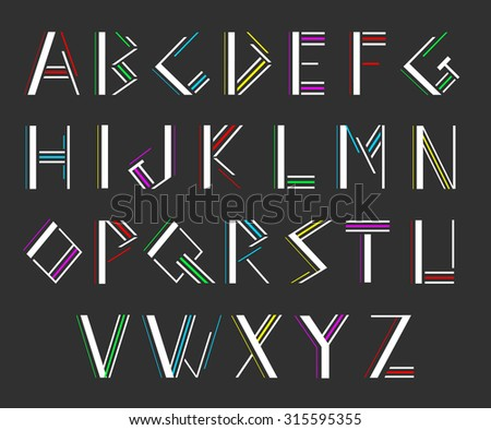 Modern alphabetic fonts - stock vector