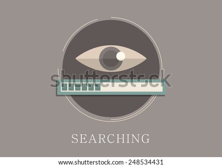 Modern and classic design data searching concept flat icon - stock vector