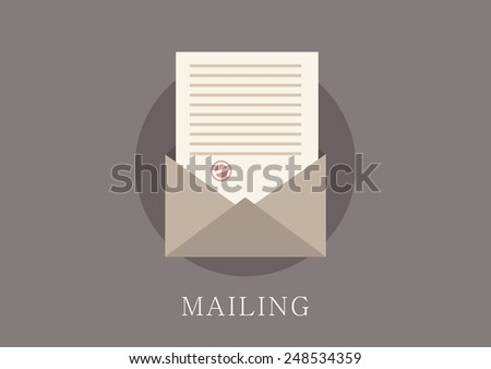 Modern and classic design email concept flat icon - stock vector