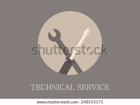Modern and classic design technical support concept flat icon - stock vector
