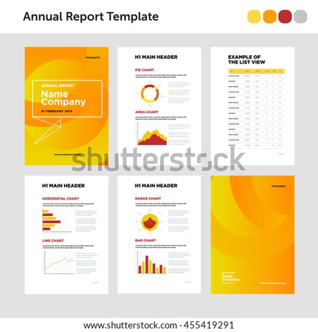 Modern Annual Report Template Cover Design Stock Vector 273450032