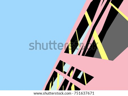 modern architecture building vector