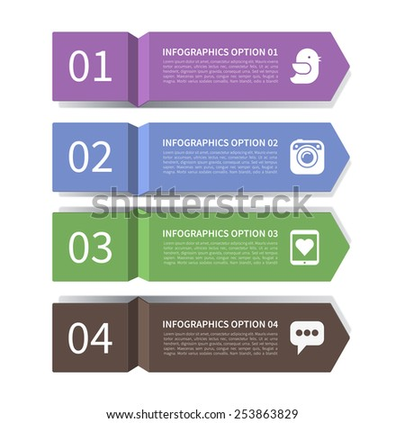Modern  arrow elements of infographics. Origami style. Vector illustration. Can be used for workflow layout, brochure, diagram, chart, number and step up options, web design - stock vector
