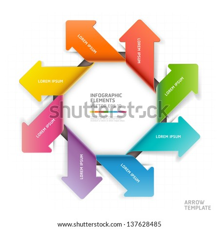 Modern arrow infographics template. Vector illustration. can be used for workflow layout, diagram, number options, business step options, banner, web design - stock vector