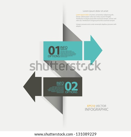 Modern arrow options banner. Can be used for workflow layout, diagram, number options, step up options, web design, infographics. - stock vector