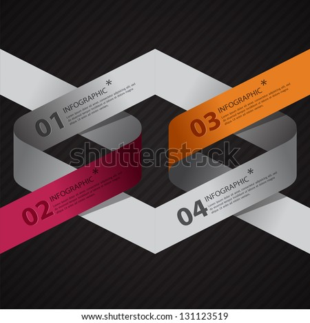 Modern arrow origami style options banner. Vector illustration. can be used for workflow layout, diagram, number options, step up options, web design, infographics.