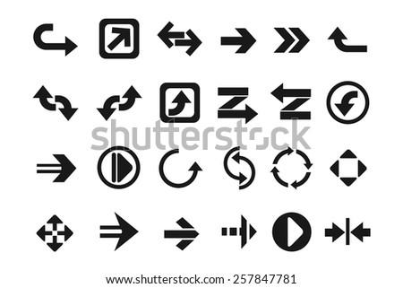 Modern arrows set - stock vector