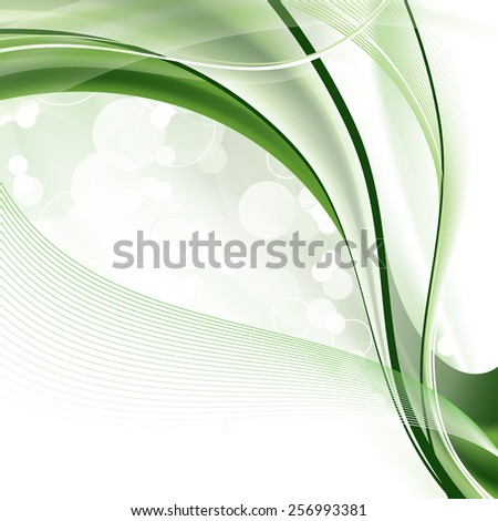 Modern Background with Wavy Lines. - stock vector