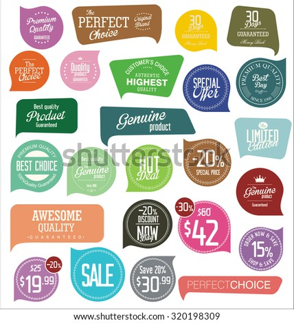 Modern badges - stock vector