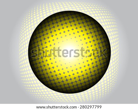Modern ball or globe with halftone effect