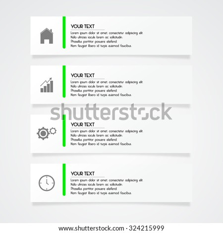 Modern banner and infographic set with icon - stock vector