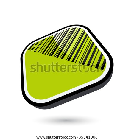modern bar code sign - stock vector